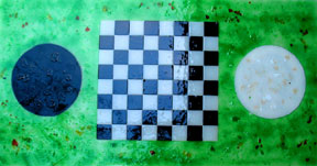 Yin & Yang Playing Chess on the Green Grass